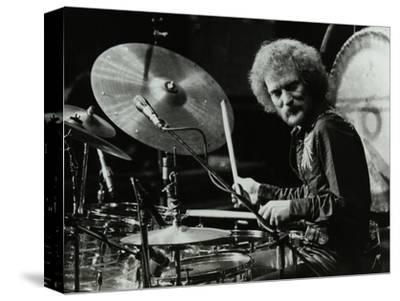 Drummer Ginger Baker Performing at the Forum Theatre, Hatfield, Hertfordshire, 1980