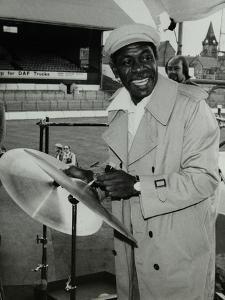 Drummer Mickey Roker at the Newport Jazz Festival, Ayresome Park, Middlesbrough, 1978 by Denis Williams