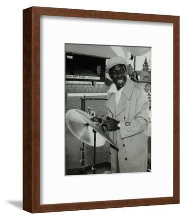 Drummer Mickey Roker at the Newport Jazz Festival, Ayresome Park, Middlesbrough, 1978