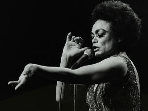 Eartha Kitt Performing at the Forum Theatre, Hatfield, Hertfordshire, 20 March 1983. by Denis Williams