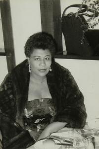 Ella Fitzgerald after a Concert at Colston Hall, Bristol, 24 February 1955 by Denis Williams