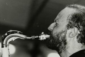Mornington Lockett Playing Tenor Saxophone at the Fairway, Welwyn Garden City, Hertfordshire, 1992 by Denis Williams