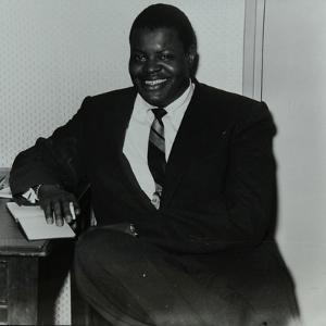 Oscar Peterson in the Green Room at Colston Hall, Bristol, 1955 by Denis Williams