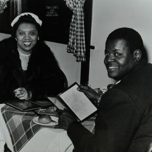 Oscar Peterson Looking Forward to Dinner after a Concert at Colston Hall, Bristol, 1955 by Denis Williams