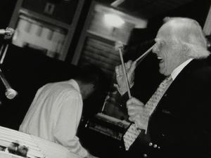 Peter Appleyard Playing the Vibraphone at the Fairway, Welwyn Garden City, Hertfordshire, 1999 by Denis Williams