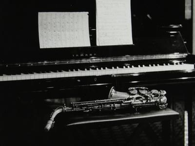 Saxophone and Piano, the Fairway, Welwyn Garden City, Hertfordshire, 7 May 2000