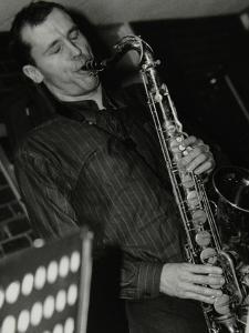 Steve Kaldestad Playing Tenor Saxophone at the Fairway, Welwyn Garden City, Hertfordshire, 2003 by Denis Williams