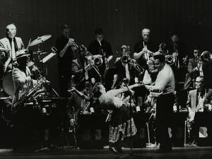 Swing Machine in Concert at the Forum Theatre, Hatfield, Hertfordshire, 18 February 1986 by Denis Williams