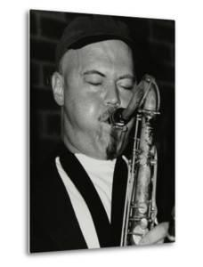 Tenor Saxophonist Dale Barlow Playing at the Fairway, Welwyn Garden City, Hertfordshire, 1996 by Denis Williams