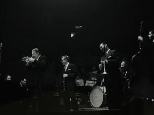 The Eddie Condon All Stars on Stage at Colston Hall, Bristol, 1957 by Denis Williams