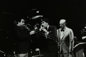The Herb Miller Orchestra in Concert at the Forum Theatre, Hatfield, Hertfordshire, 1985 by Denis Williams