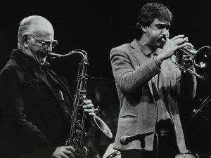 The Ronnie Scott Quintet at the Forum Theatre, Hatfield, Hertfordshire, 29 November 1985 by Denis Williams