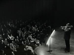 Trombonist and Bandleader Jack Teagarden on Stage at Colston Hall, Bristol, 1957 by Denis Williams