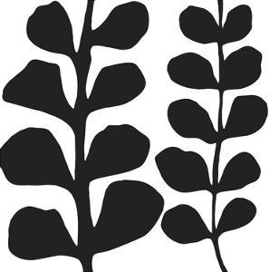 Maidenhair (black on white) by Denise Duplock