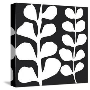 Maidenhair (white on black) by Denise Duplock