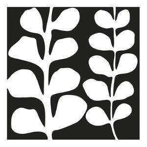Maidenhair (white on black) by Denise Duplock