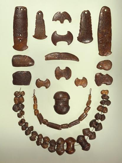 Denmark, Copenhagen, Amber Necklaces and Pendants from Laddenhoj--Giclee Print