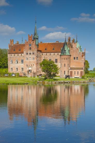 Denmark, Funen, Egeskov, Egeskov Castle, Exterior-Walter Bibikow-Photographic Print