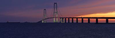 Denmark, Funen, Great Belt Bridge, Dusk-Chris Seba-Photographic Print