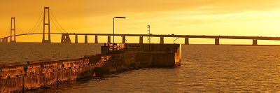 Denmark, Funen, Great Belt Bridge, Sunset-Chris Seba-Photographic Print