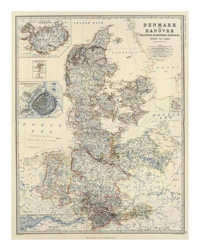 Denmark, Hanover, Brunswick, Mecklenburg, Oldenburg, c.1861-Alexander Keith Johnston-Art Print