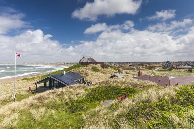 Denmark, Jutland, Klitmoller, Windsurfing Capital of Denmark, Houses in Dunes-Walter Bibikow-Photographic Print