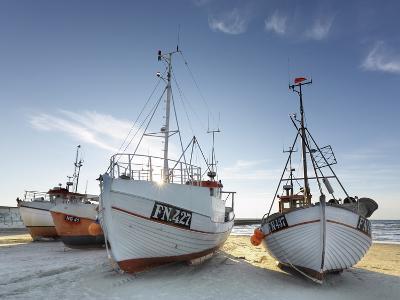 Denmark, Jutland, Lškken, Beach, Boats, Ships-Harald Schšn-Photographic Print