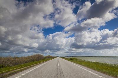 Denmark, Jutland, Oslos, Route 11 Road by the Limfjorden-Walter Bibikow-Photographic Print
