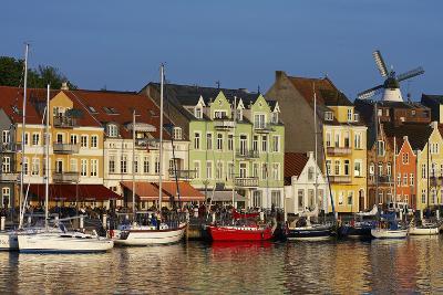 Denmark, Jutland, Sonderborg, Harbour Front, House Facades, Boats-Chris Seba-Photographic Print