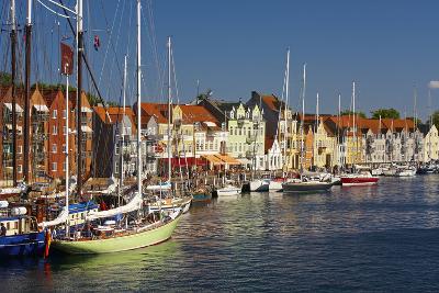 Denmark, Jutland, Sonderborg, Sailboats, Harbour, Houses, Colourful-Chris Seba-Photographic Print