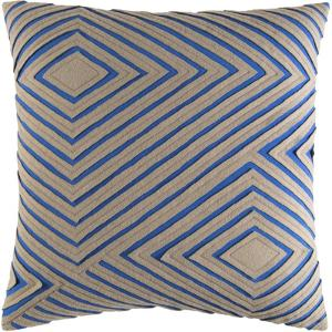 Denmark Pillow Cover - Camel/Cobalt