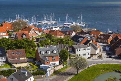 Denmark, Zealand, Vordingborg, Elevated Town View-Walter Bibikow-Photographic Print