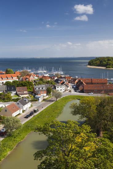 Denmark, Zealand, Vordingborg, Elevated Town View-Walter Bibikow-Photographic Print