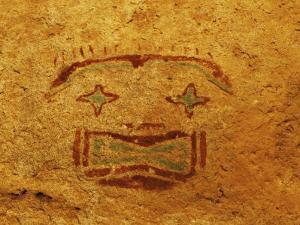 Detail of Pictograph or Rock Painting, the Starry-Eyed Man, Hueco Tanks State Historic Park by Dennis Flaherty