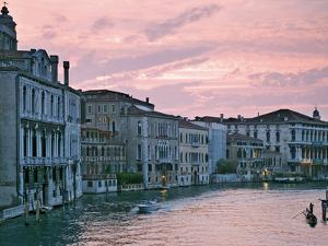 Grand Canal at Dusk from Academia Bridge, Venice, Italy by Dennis Flaherty
