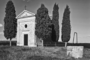 Italy, Tuscany. Vitaleta Chapel in the Val d'Orcia by Dennis Flaherty