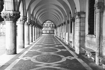 Italy, Venice. Columns at Doge's Palace