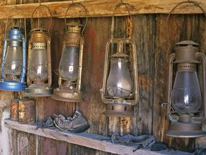 Lanterns Inside Boone's General Store, Abandoned Mining Town of Bodie, Bodie State Historic Park by Dennis Flaherty