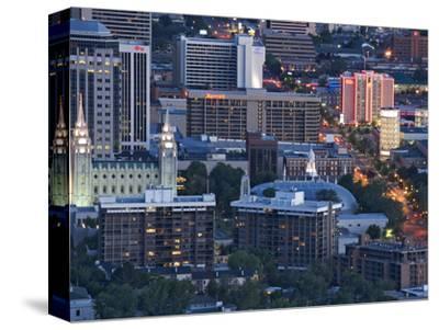 Late Afternoon Light on Mormon Temple Square, Salt Lake Temple and Tabernacle, Salt Lake City