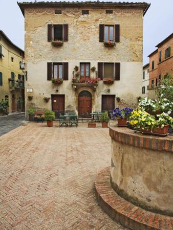 Local Restaurant in Piazza, Pienza, Italy