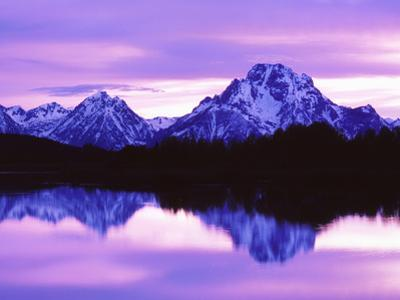 Mountain Reflections on Lake, Grand Teton National Park, Wyoming, Usa