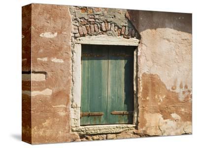 Old Window Along a Walkway, Venice, Italy