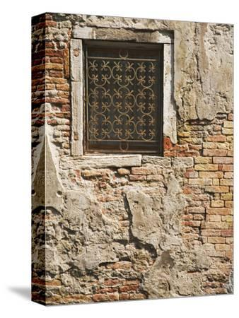 Ornate Metalwork Window Covering Along Side Street, Venice, Italy