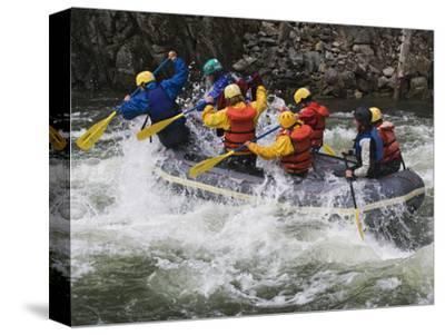 Rafting Action on the Salmon River, Idaho, USA