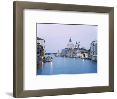 Santa Maria della Salute Cathedral from Academia Bridge along the Grand Canal at Dusk, Venice