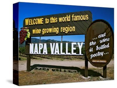 Sign at Entrance of Napa Valley, California