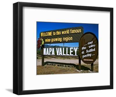 Sign at Entrance of Napa Valley, California