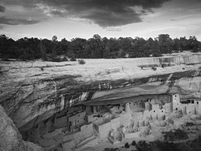 USA, Colorado, Mesa Verde NP. Overview of Cliff Palace Ruins by Dennis Flaherty