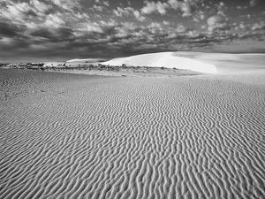 USA, New Mexico, White Sands National Monument. Desert Landscape by Dennis Flaherty