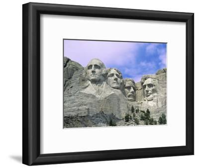View of Mount Rushmore National Monument Presidential Faces, South Dakota, USA